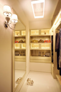 cosy walk in closet