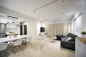 simple, minimalist living hall