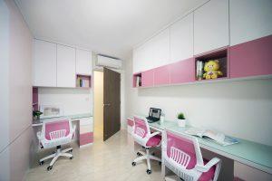 clean, simple study room